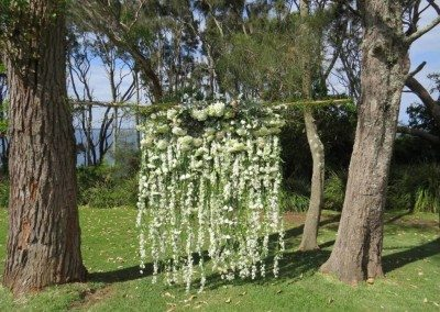 Floral curtain, ceremony