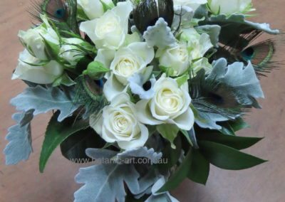 art deco, feathers, roses, silver