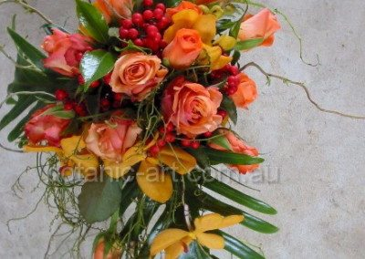 orange, berries, trailing