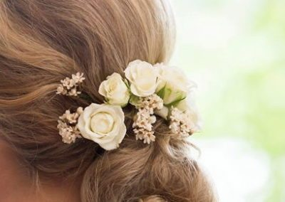 hair flowers, bride