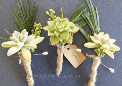 succulents, twine binding, rustic, country button holes